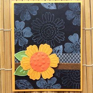 Handmade Sunflower Blank Greeting Card